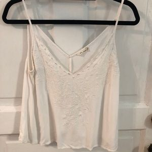 Chloe & Katie white tank top